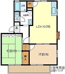 マロンハイツ3 202[2階]の間取り
