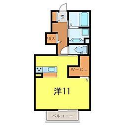 仮)D−room中島町[106号室]の間取り