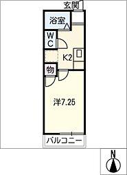 メゾンコーム[1階]の間取り