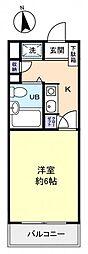 クリスタル津田沼 PARTー1[1階]の間取り