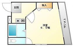 ハイツハラヤマ[3階]の間取り