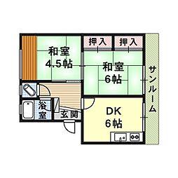 和松ハイツ[1階]の間取り