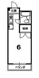 ソワリエマエグチ[203号室]の間取り