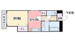 福岡県福岡市西区姪の浜2丁目の賃貸マンションの間取り