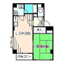 東京都西東京市ひばりが丘北2丁目の賃貸マンションの間取り
