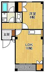 兵庫県尼崎市武庫之荘3丁目の賃貸マンションの間取り