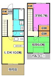 [テラスハウス] 東京都練馬区大泉学園町4丁目 の賃貸【/】の間取り