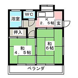 聖和荘[2階]の間取り