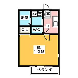 コンフォール BENIYA[2階]の間取り