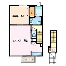 アイミルン  A棟[2階]の間取り