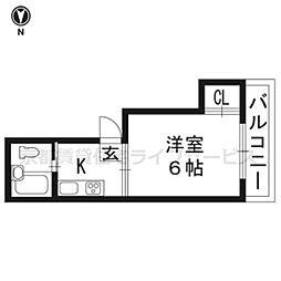 弥栄香ハイツ[201号室]の間取り