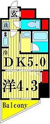 ラフィスタ北綾瀬 7階1DKの間取り
