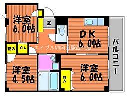 さくらマンションB[2階]の間取り