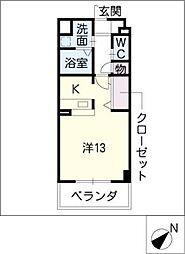 スタシオン上小田井[3階]の間取り