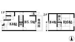 [テラスハウス] 兵庫県西宮市上大市2丁目 の賃貸【/】の間取り