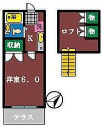 ロフティ薬園台1[102号室]の間取り