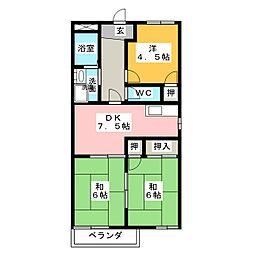 コーポ神沢[1階]の間取り
