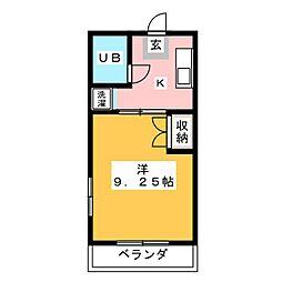 セイントフローレンスII[3階]の間取り
