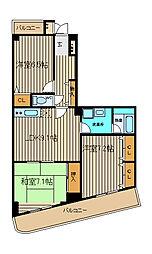 柳原ビル[4階]の間取り