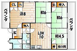 グランドハイツ藤松II[2階]の間取り