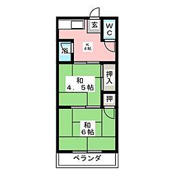 かぼく荘[1階]の間取り