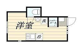 (仮称)高松2丁目新築計画 1階ワンルームの間取り