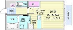 仙台市地下鉄東西線 川内駅 徒歩13分の賃貸アパート 1階ワンルームの間取り