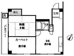 小石川ガーデン[304号室]の間取り