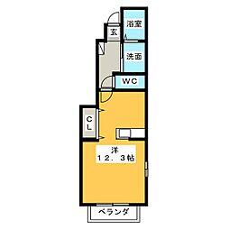 クレメント[1階]の間取り