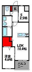 JR香椎線 酒殿駅 徒歩36分の賃貸マンション 5階1SLDKの間取り