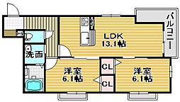 クオレール浜寺[3階]の間取り