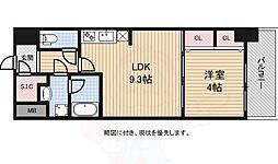 スプランディッド淀屋橋DUE 2階1LDKの間取り