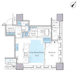 パークアクシス月島マチュアスタイル 4階1LDKの間取り