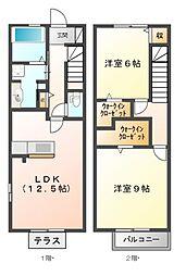 [テラスハウス] 三重県鈴鹿市稲生塩屋2丁目 の賃貸【/】の間取り