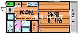 メゾンボヌール京橋[3階]の間取り