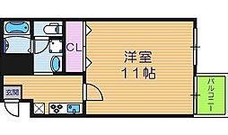 エスト勝山[5階]の間取り