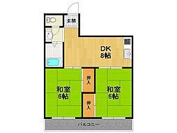 ハイム甲子園[3階]の間取り