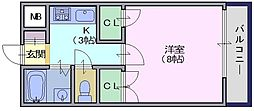 エクセレントハイツ[5階]の間取り