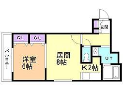 EM7(イーメジャーセブン) 3階1LDKの間取り