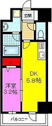 CERNE新町(セルン新町) 11階1DKの間取り