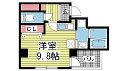 兵庫県神戸市中央区布引町4丁目の賃貸マンションの間取り