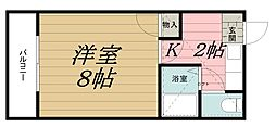 千葉県千葉市中央区矢作町の賃貸アパートの間取り
