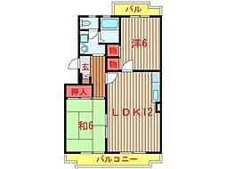 斉藤マンション[203号室]の間取り
