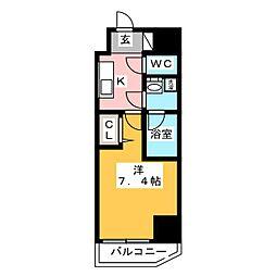 GRAN PASEO 浅草橋 2階1Kの間取り