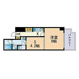 Jigyo HIKARI terrace 2階1SKの間取り