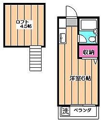 プチメゾン(鷺ノ宮)[2階]の間取り