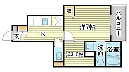 セレノ・プリートMK[1階]の間取り