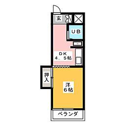 エクセル東和[6階]の間取り
