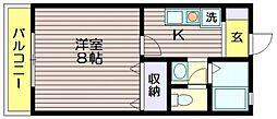 ボワフルールA棟[1階]の間取り