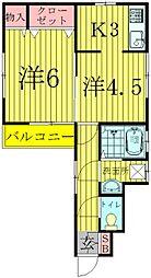 永楽台サンハイツ[1階]の間取り